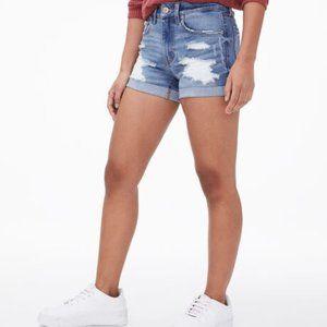Aeropostale High Rise Demin Midi Shorts (10)